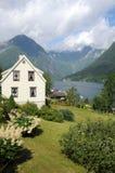 Sognefjord in Balestrand Royalty-vrije Stock Foto's