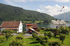 Sognefjord at Balestrand Royalty Free Stock Photography