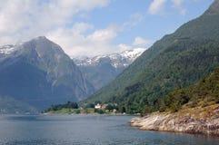 Sognefjord in Balestrand Stock Afbeelding