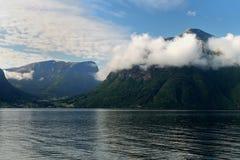 Sognefjord en Noruega Fotos de archivo libres de regalías