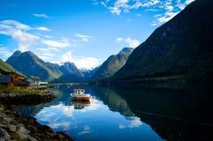 Sognefjord en Noruega Imagen de archivo libre de regalías