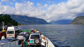 Sognefjord. On the ferry across the Sognefjord Stock Image