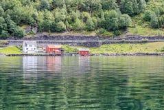 Sognefjord - fiordo in Norvegia, molla Immagini Stock Libere da Diritti
