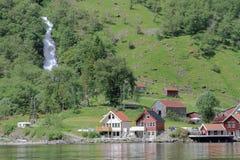 Sognefjord - fjord w Norwegia, wiosna Obraz Royalty Free