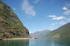 Sognefjord i Norge Royaltyfri Bild