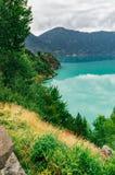 Sognefjord mit erstaunlicher Farbe des Wassers Stockbilder