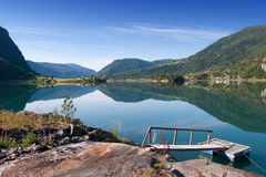 Sognefjord near Balestrand, Norway royalty free stock image