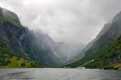Sognefjord, Noorwegen Stock Afbeelding