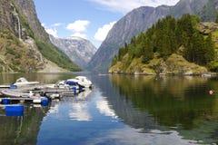 Sognefjord, Noorwegen. Royalty-vrije Stock Foto's