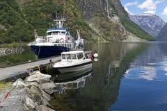 Sognefjord Norge. Fotografering för Bildbyråer