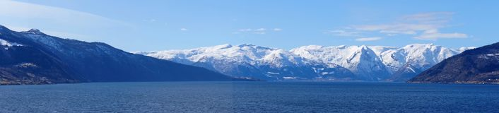 Sognefjord in Norway royalty free stock photography