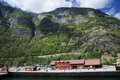 Sognefjord pier in Flam Stock Image