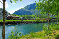 Sognefjord port in Flam Norwegian Stock Photo