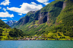 Sognefjord Scene Royalty Free Stock Photography