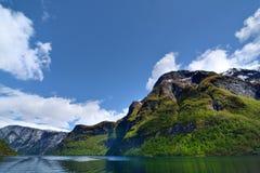 Sognefjorden Fotografering för Bildbyråer