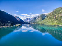 Sognefjorden Fotografia de Stock Royalty Free