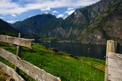 Sognefjorden Fotografia Stock