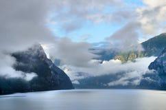 Sognefjorden in norwegian Fjords Stock Photos