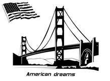 Sogni americani Fotografia Stock Libera da Diritti