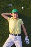 Sogni del giocatore di golf del ` s del ragazzo Fotografia Stock