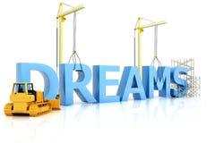 Sogni della costruzione Immagini Stock