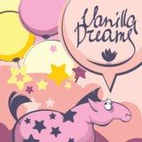 Sogni della vaniglia del cavallo rosa Fotografia Stock