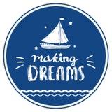 Sogni di fabbricazione calligrafici per il manifesto Fotografia Stock Libera da Diritti