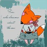 Sogni di Fox del mare Fotografia Stock
