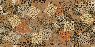 Sogni di safari Fondo di lerciume con i punti del leopardo Fotografia Stock