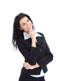 Sogni felici della donna di affari Immagine Stock