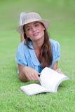 Sogno con il libro Fotografia Stock