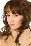 Sogno Curly-haired della donna Fotografie Stock Libere da Diritti