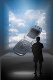 sogno dei telefoni delle cellule di visione Immagini Stock