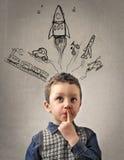 Sogno del bambino fotografia stock libera da diritti