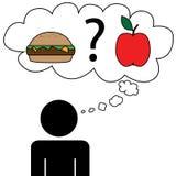 Sogno dell'uomo ad alimento Immagini Stock