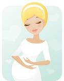 Sogno della donna incinta illustrazione vettoriale