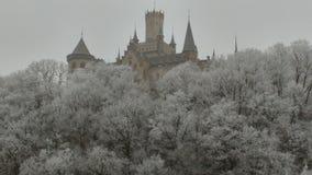 Sogno di inverno del castello Fotografia Stock Libera da Diritti