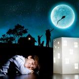 Sogno di notte Immagine Stock Libera da Diritti