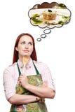 Sogno di un pasto speciale del pranzo Fotografie Stock