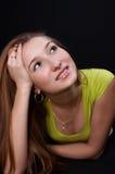 Sogno piacevole dell'adolescente Fotografia Stock Libera da Diritti