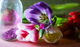 sogno valentinesday di datazione dei fiori lovestory fotografie stock
