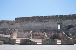 Sohail Castle ruins in Fuengirola, Andalusia, Spain, Europe Stock Photography