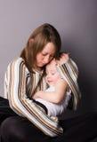 Sohn und Mutter Stockfotografie