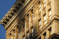 Soho building facades with terracotta ornament, New York City Stock Photo