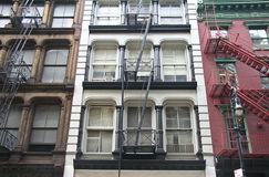 Soho fire escape stock photos