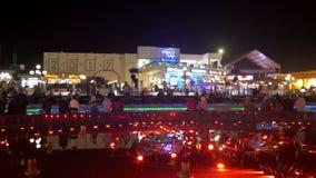 Soho fyrkant på natten i Sharm el Sheikh, Egypten arkivfilmer