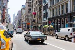 Soho gatatrafik i Manhattan New York City USA Royaltyfri Bild