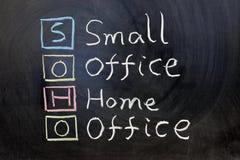 SOHO, het kleine bureau van het bureauhuis Stock Afbeeldingen