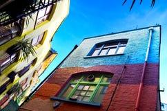 Soho London. Multi coloured houses in Soho, London (UK Stock Photo