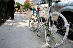 Soho memorial bicycle Royalty Free Stock Photography